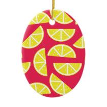 pattern of lemon ceramic ornament