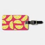 pattern of lemon etiquetas para maletas