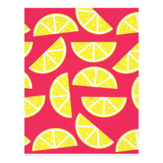 pattern of lemon letterhead