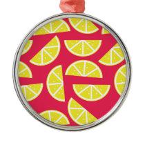 pattern of lemon metal ornament