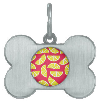 pattern of lemon pet name tag
