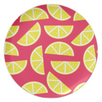 pattern of lemon plate