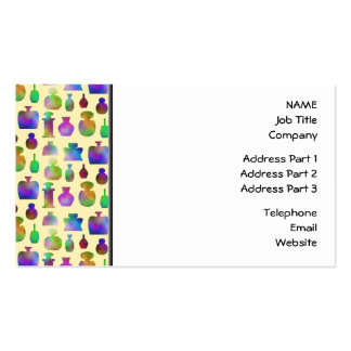 Pattern of Many Colorful Perfume Bottles. Business Card Template