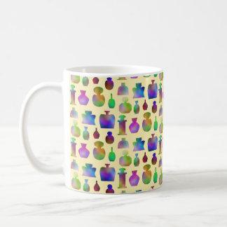 Pattern of Many Colorful Perfume Bottles. Coffee Mug