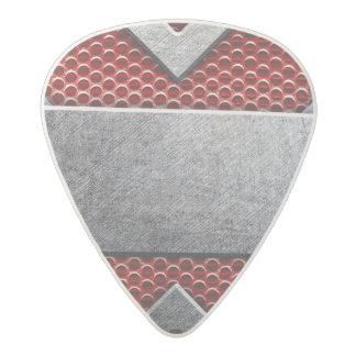 Pattern of metal plate acetal guitar pick