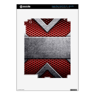 Pattern of metal plate iPad 3 skin