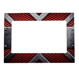 Pattern of metal plate magnetic frame