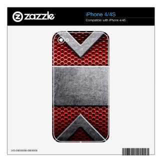Pattern of metal plate decal for the iPhone 4S