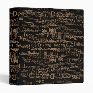 pattern of names . unique and personalized black binder