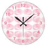 Pattern of Pastel Pink Shells. Clock