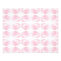 Pattern of Pastel Pink Shells. Flyer