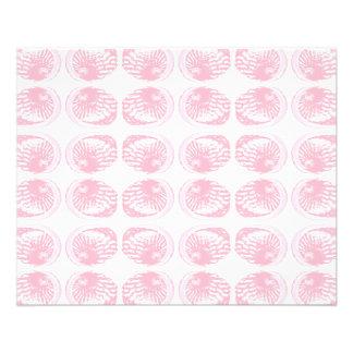 Pattern of Pastel Pink Shells. Flyer