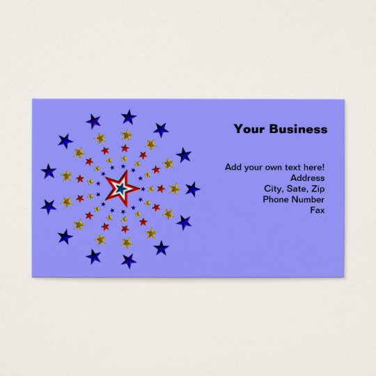 Pattern of Patriotic Stars Business Card