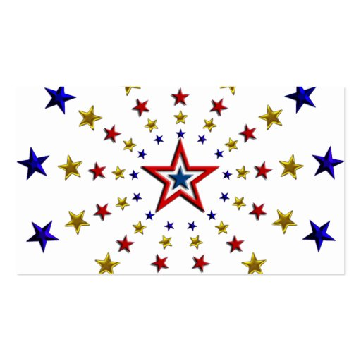 Pattern of Patriotic Stars Business Cards