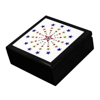 Pattern of Patriotic Stars Gift Box
