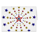 Pattern of Patriotic Stars Greeting Cards