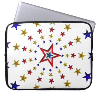 Pattern of Patriotic Stars Laptop Computer Sleeves