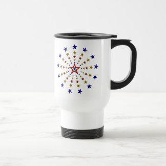 Pattern of Patriotic Stars Travel Mug