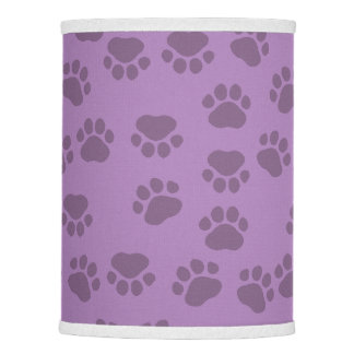 Pattern Of Paws, Dog Paws, Traces - Purple Lamp Shade