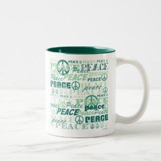 Pattern of Peace Coffee Mugs