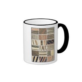 Pattern of Polynesian tapa from Cook's Mug
