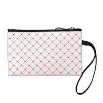 Pattern of Red Hearts Change Purse