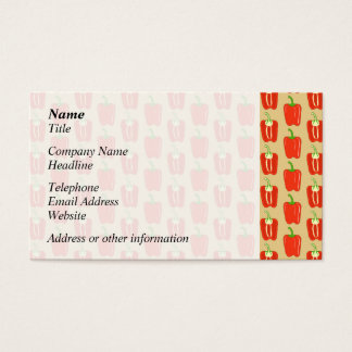 Pattern of Red Peppers. Business Card