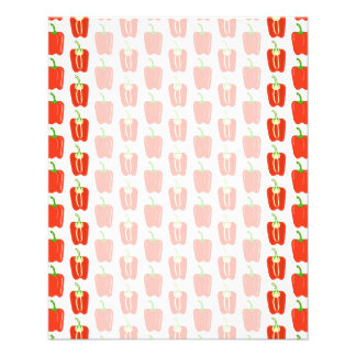 Pattern of Red Peppers. Full Color Flyer