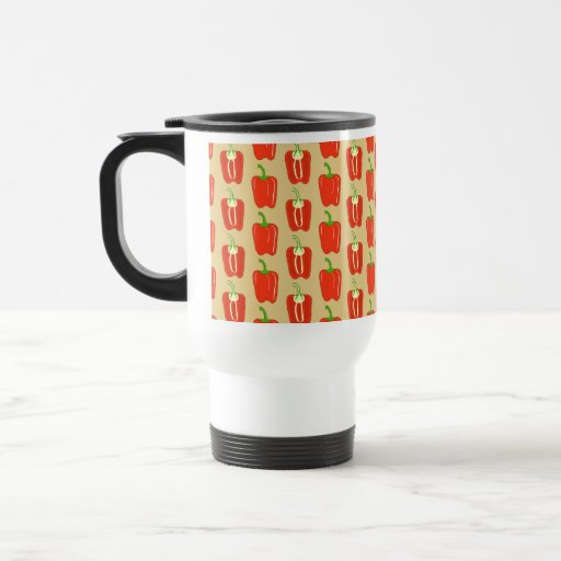 Pattern of Red Peppers. Mugs