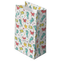 pattern of sea creatures small gift bag