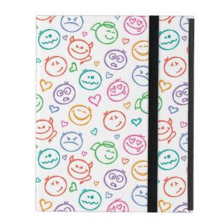 pattern of smiles iPad case