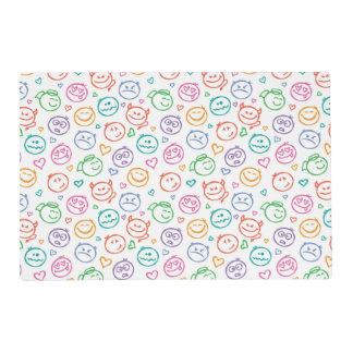pattern of smiles placemat