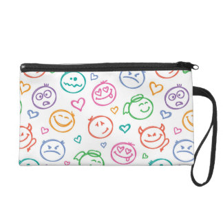 pattern of smiles wristlet