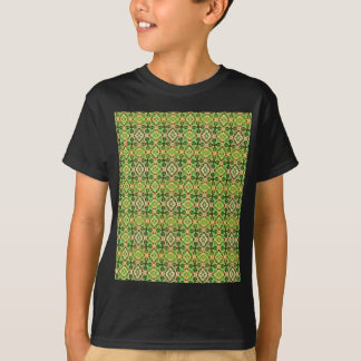 Pattern of spring leaves and lucky clover. T-Shirt