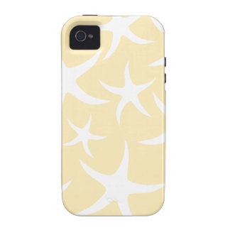 Pattern of Starfish in White and Yellow. Case-Mate iPhone 4 Case