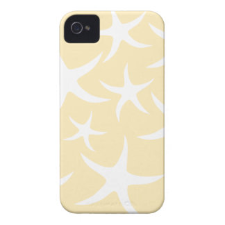 Pattern of Starfish in White and Yellow. iPhone 4 Case