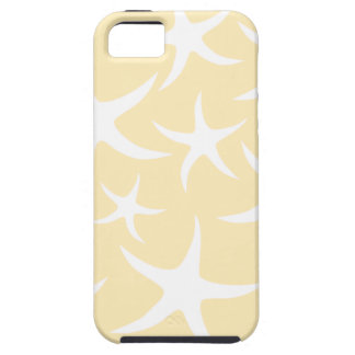 Pattern of Starfish in White and Yellow. iPhone 5 Cases
