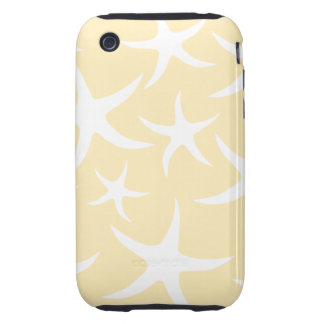Pattern of Starfish in White and Yellow. Tough iPhone 3 Cover