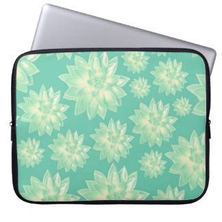 Pattern of succulents laptop sleeve