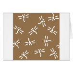 Pattern of the Dragonfly Greeting Card