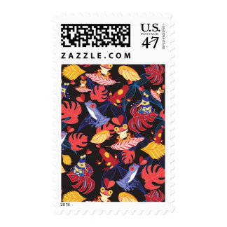 Pattern Of The Lovers Frogs Postage