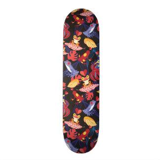 Pattern Of The Lovers Frogs Skateboard