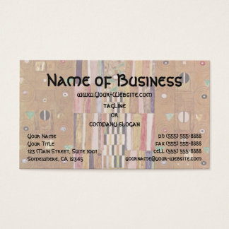 Pattern of the Stoclet Frieze by Klimt, Mosaic Art Business Card