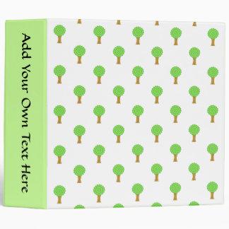 Pattern of Trees. 3 Ring Binder