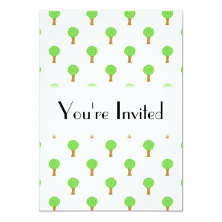 Pattern of Trees. Card