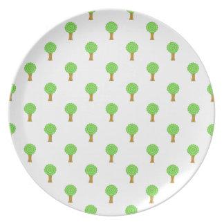 Pattern of Trees. Melamine Plate
