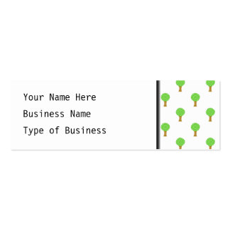 Pattern of Trees. Mini Business Card