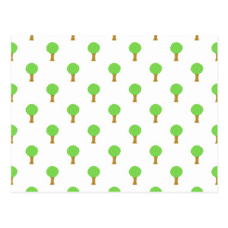 Pattern of Trees. Postcard