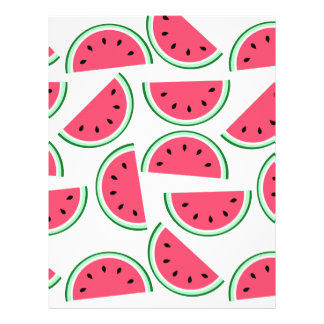 pattern of watermelon letterhead