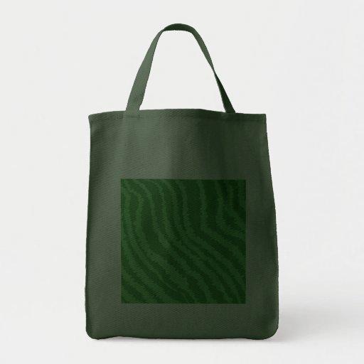 Pattern of Wavy Green Stripes. Bag